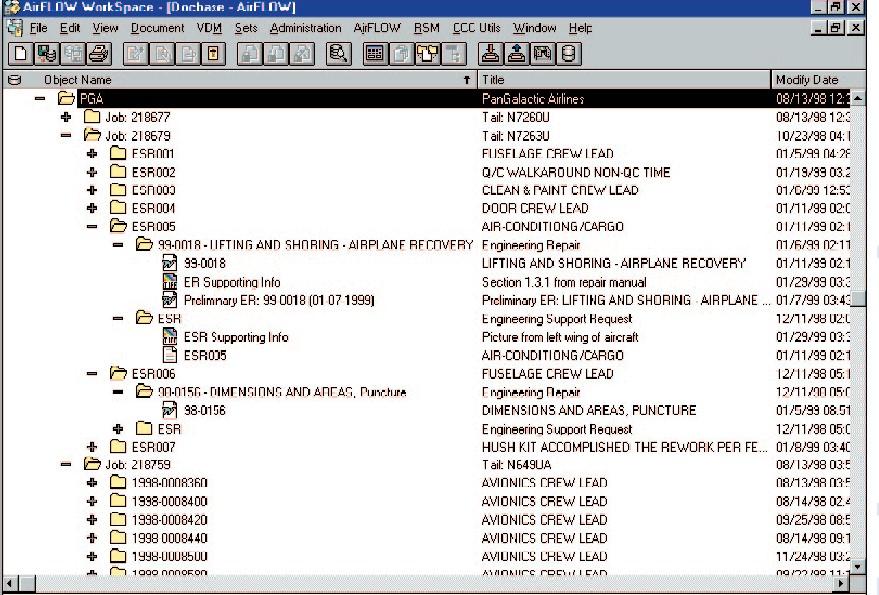 optimizing aircraft maintenance operations using a document driven dss